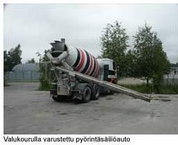 betonin kuljetus ja siirto