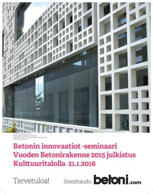 Betonininnovaatiot ja VBR2015