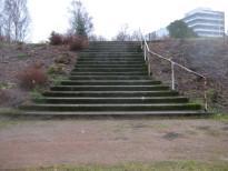 Jokipuisto kuva 1a ennen peruskorjausta - kuva Kotkan puistotoimen arkisto
