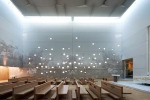 Graafinen betoni julkisen tilan tehostekeinona(Ospedale Giovanni XXIII Chapel, Bergamo, Italia. Suunnittelu arkkitehdit Pippo ja Ferdinando Traversi kuva: www.graphicconcrete.com)